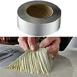 ZHXY Cinta súper Impermeable Cinta de Papel de Aluminio de Goma de butilo Cinta de reparación mágica Potente para Reparar Grietas,canaletas y Agujeros en el Techo (5 cm * 5 m)