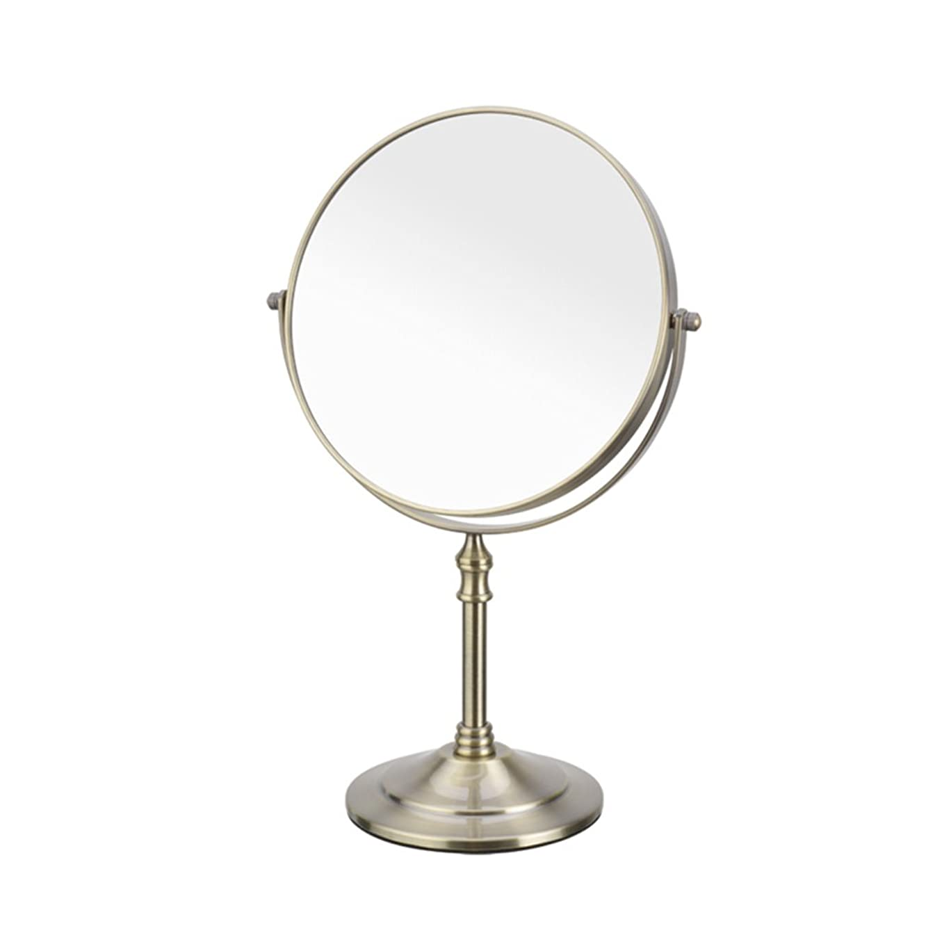 偶然の貫入海洋のHAPzfsp 化粧鏡 1倍/ 3倍、8 '360°回転式拡大鏡付き化粧台、クリスタル調スタイルのバスルームミラー バスルーム、クローク、ドミトリー (Color : Red bronze)
