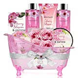 Bath Set for Women - Body&Earth 8 Pcs Gift Basket with...
