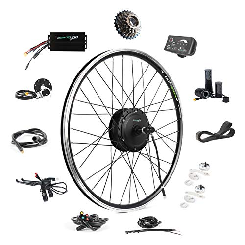 "EBIKELING 36V 500W 26"" Geared Rear Waterproof Electric Bicycle Conversion Kit (Rear/LED/Twist)"