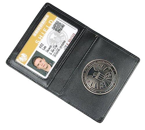 Ledergeldbörse oder ID-Kartenhalter The Avengers Agents of S.h.l.e.l.d Schild mit Abzeichen (Leo Fitz)
