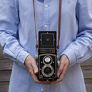 Leather camera neck / shoulder strap for Rolleicord, Rolleiflex , Yashica Mat, Minoltaflex and more, TLR Camera straps