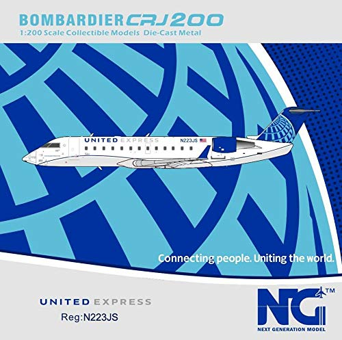 NG Model NGM52038 1:200 United Express CRJ-200ER Reg #N223JS (pre-Painted/pre-Built)
