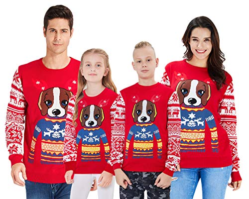 Loveternal Jersey Navidad Mujer Hombre Feo Motivos Novedad Jerseis Navideños Unisex Familia Christmas Sweater XXL