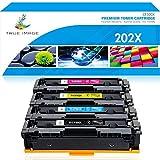 True Image Compatible Toner Cartridge Replacement for HP 202X 202A CF500X CF501X CF502X CF503X M281 Color Laserjet Pro M281fdw M281cdw M254dw M254 M254nw M281fdn (Black Cyan Yellow Magenta, 4-Pack)