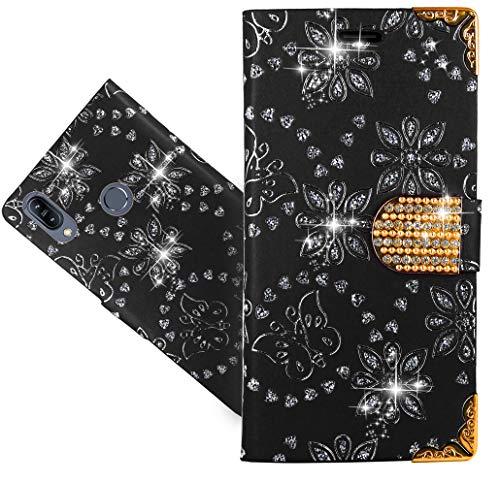 ASUS Zenfone Max (M2) ZB633KL Handy Tasche, HülleExpert® Wallet Hülle Cover Bling Diamond Hüllen Etui Hülle Ledertasche Lederhülle Schutzhülle Für ASUS Zenfone Max (M2) ZB633KL