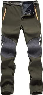 Men's Outdoor Hiking Pants Softshell Skiing Pants Fleece Lined Winter Warm Water Resistant Climbing Pants