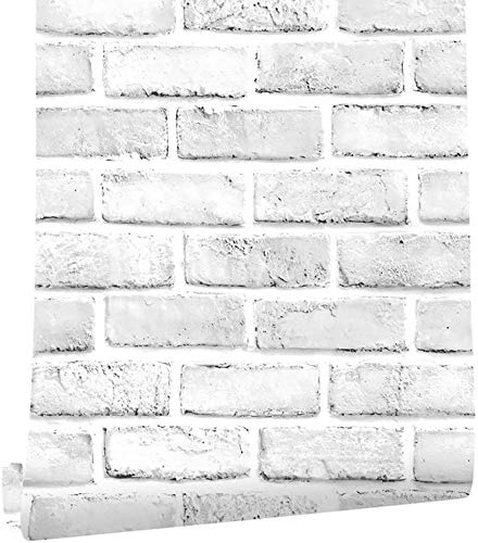 45*1000CM Papel Tapiz Autoadhesivo Estilo Ladrillo Para Pared,Contacto Papel Pintado,Vinilo Impermeable,Revestimiento Decorativo...