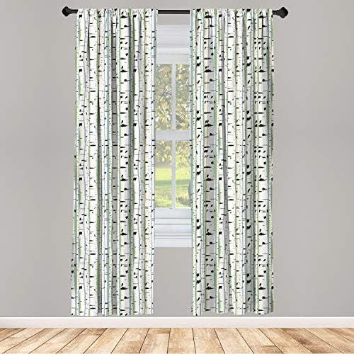 Birch tree window curtains