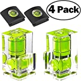 Hot Shoe Level, 4Pack ChromLives Hot Shoe Bubble Level Camera Hot Shoe Cover 2 Axis Bubble Spirit Level Compatible with DSLR Film Camera Canon Nikon Olympus,Combo Pack - 2 Axis and 1 Axis