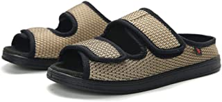 B/H Enflé Gonflée Chaussons Réglable,Pieds Larges Chaussures Bouffantes Gros os, Chaussures à Fond réglable en Mousse de C...
