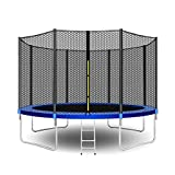 Beauty Kate Trampolines 12-Foot Jump Trampoline with Enclosure Net, Spring Pad, Ladder - Combo Bounce Outdoor Trampoline for Kids, Adults