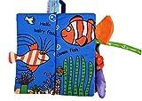 GDYS Baby Puzzle Libro de Tela de educación temprana para bebés de 0-3 años de Edad no se Puede rasgar Puede morder Libro de Tela de Cola de Animal Tridimensional (Oceano)