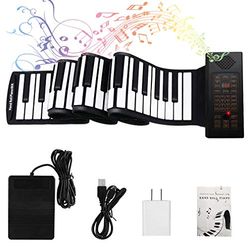88 Keys Roll Up Piano with Pedal Upgraded Numeric Portable Piano Keyboard for Kids Beginner
