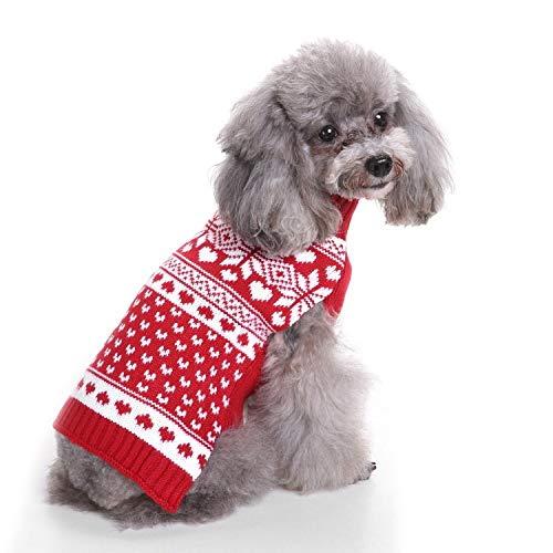 Datouya Perro suéter de Punto Tortuga de Tortuga Ropa suéter Rojo Ropa cómoda para Perros (Color : Red, Size : X-Large)