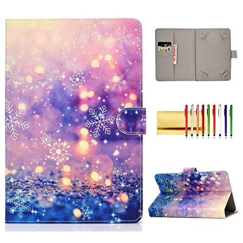 """Price comparison product image Universal Folio Cover for 8 inch Tablet,  Techcircle Stand Wallet Case for LG G-Pad F2 / X2 8.0,  Fire HD 8,  Galaxy Tab 8.0"""",  iPad Mini 1 / 2 / 3 / 4 / 5,  Huawei MediaPad 8.4"""",  ASUS ZenPad 8.0"""",  Purple Sand"""