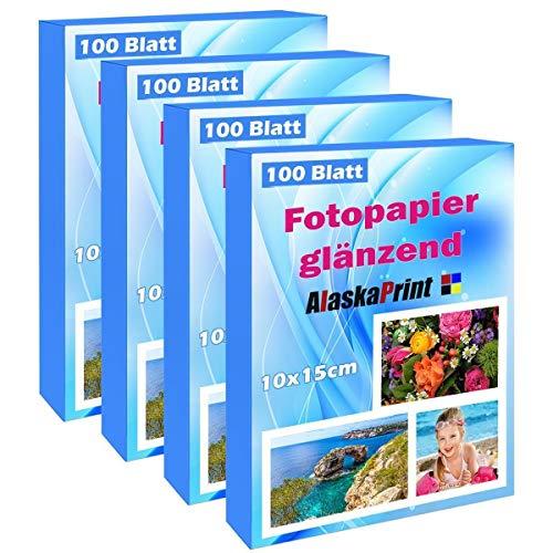 400 Blatt fotopapier 10x15 hoch glänzend tintenstrahldrucker 240g/m² Photopapier Fotokarten Photokarten Sofort Trocken Wasserfest Hochweiß