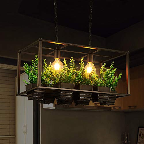 Binnen Retro industriële stijl restaurant bar plant kroonluchter Amerikaanse landtuin ijzer kunsthandwerk bloempot ruimte plafondlamp 66x32 cm