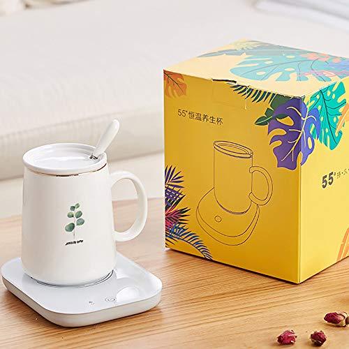 Koffie Warmer, Beker Warmer, Drank Warmer, 55 °C Constante Temperatuur Isolatie, Thee Koffie Melk Poeder, Touch-Type Automatische Verwarming, Geschikt voor Flat Bottom Cup Type,D-met-Cup