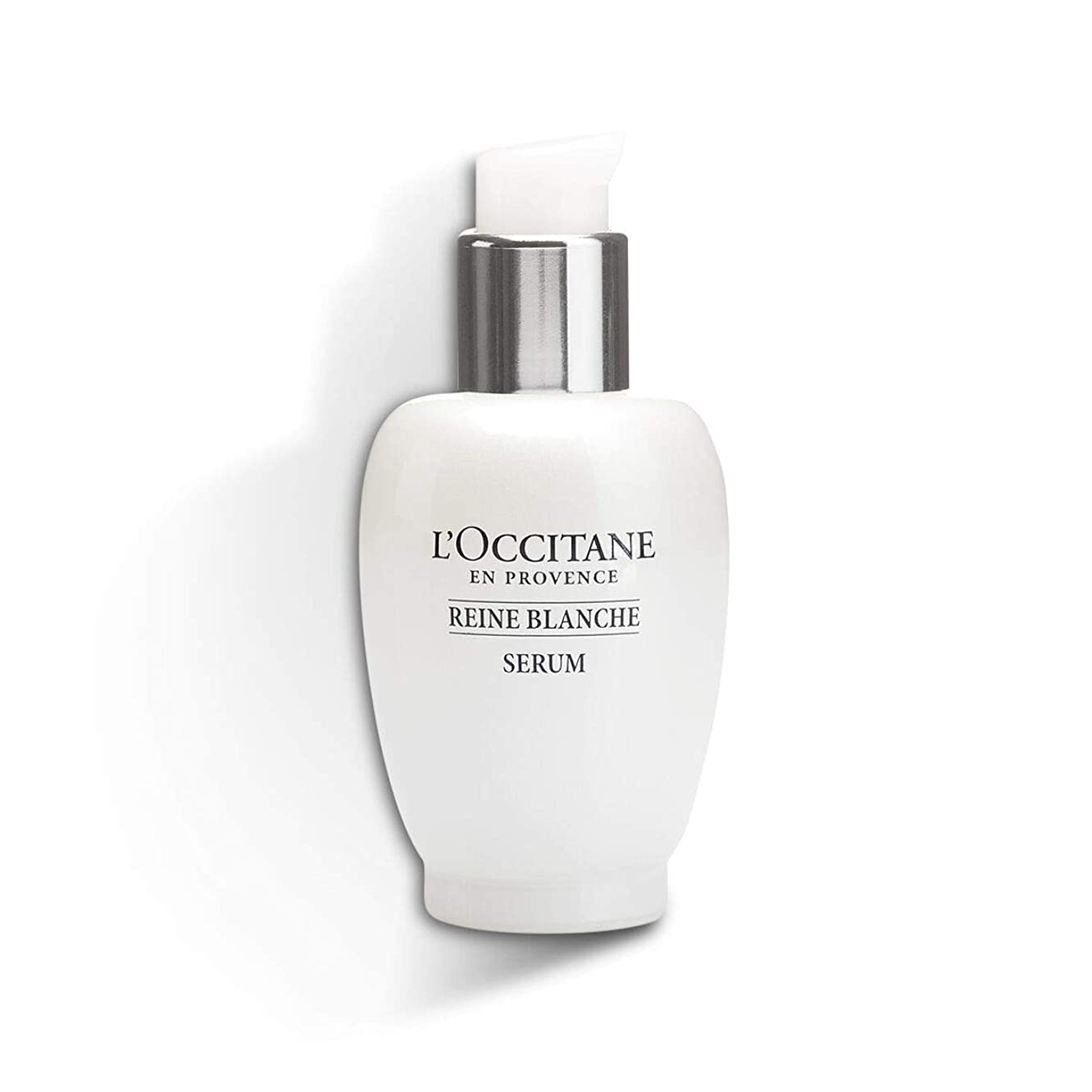 L'Occitane Reine Blanche Brightening Serum Enriched with Meadowsweet Flower Extract for a More Luminous Skin Tone, 1 fl. oz.