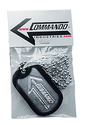 Commando Industries US Army Erkennungsmarke Silencer Promotion Dog Tag mit Ketten Hundemarke Dog Tag Farbe Silber