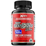 XZEN - Testoxzen Ultra Test Booster Male Formula, Enhancement Booster Testosterone Pills for Men with Horny Goat Weed DHEA, Korean Red Ginseng - Increase Time, Size and Stamina - 30 Capsules