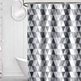trounistro Duschvorhäng, Duschvorhang Anti-Schimmel Duschvorhang aus Polyester Wasserabweisend Shower Curtain Anti-Bakteriell mit 12 Duschvorhangringen (Triangle, 180 * 200)