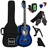 Best Choice Products 38in Beginner All Wood Acoustic Guitar Starter...