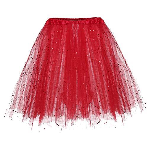 VEMOW Damen fashion rock x1-rot einheitsgröße