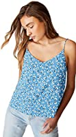 Cotton On Women's Cami Top, Chloe Daisy Parisian Blue