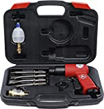 Kraftmann 3213 | Martillo cincelador Neumático con juego de herramientas | 8 piezas