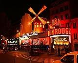 Adhesivo de News - pegatinas de etiquetas autoadhesivas ou cartel Póster con diseño de Moulin Rouge de París CV_00152 Stickers/cartel - cartel de Póster, Tamaño de - 29,7 x 42 cm (A3)