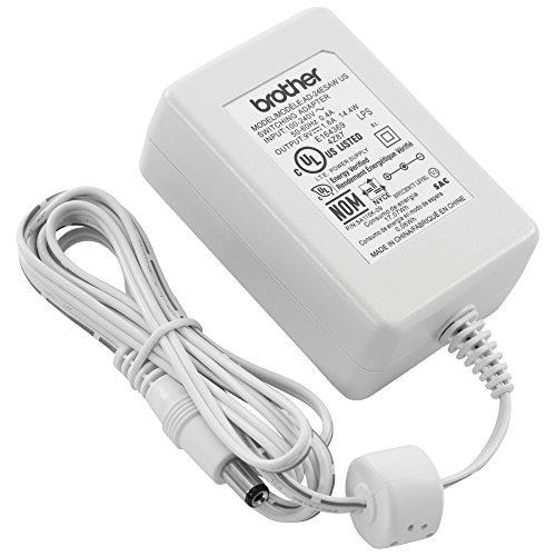 Brother Genuine AD24ESAW White AC Power Adapter for Select Brother P-Touch Label Makers, UL Listed Power Supply Charger with 4.9-foot-long Power Cord