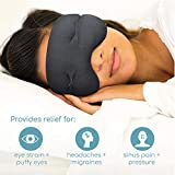 IMAK Compression Pain Relief Mask and Eye Pillow, Cold Therapy Headache, Migraine, Sinus Pain, Patented, Universal Size
