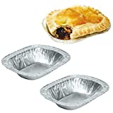 Delipak - Individual Foil Ashets 5' Oblong Pie Dishes Steak Meat Pies Rectangle Trays (50)