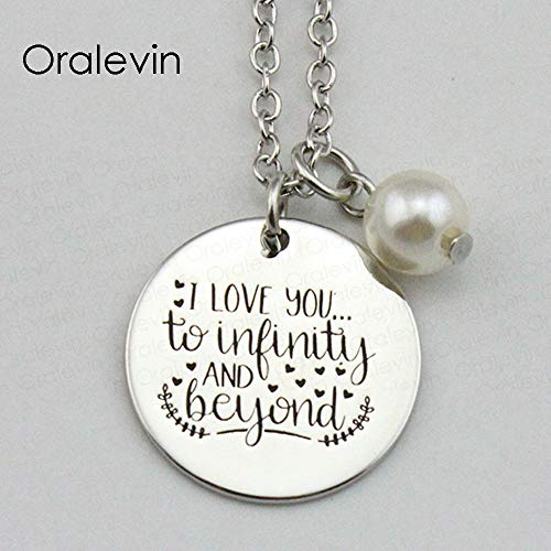 NCDFH I Love You to Infinity and Beyond Inspirational Hand Stamped Engraved Custom Pendant Female Necklace Jewelry 10Pcs/Lot Bracelet