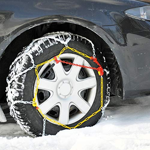 """Cartrend 7848290 Schneeketten Auto Schneekette mit ÖNORM im Kunststoffkoffer, 2er-Set """"Safety"""" Größe 90"""