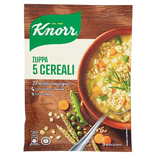 Knorr Minestra Preparata Desidrata, Zuppa 5 Cereali, 110g