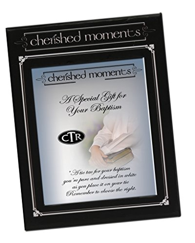 Cherished Moments LDS Baptism Tie Tac Oval CTR Choose the Right in Silver Tone
