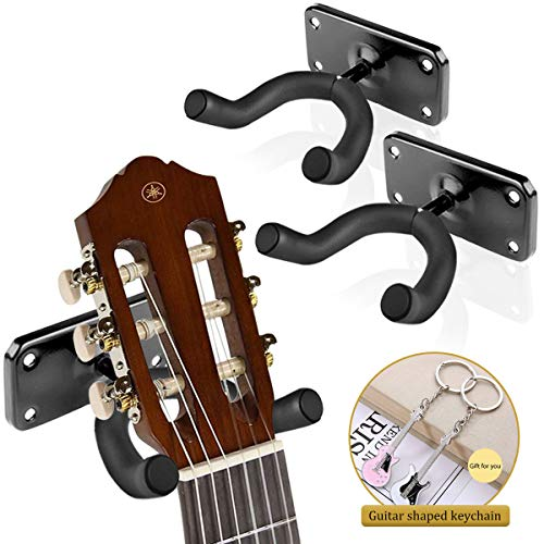 Guitar Wall Mount,Ukulele Wall Mount Hanger Holder Hook Keeper Stand Display with Screws for All Size Acoustic Electric Guitar Ukulele voilin Bass Mandolin Banjo at home/studio,Skateboard Wall Mount