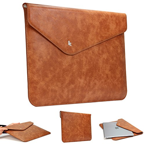 Urcover® 13 Zoll Laptoptasche Slim Design - Thin Fit I Kunstleder - Braun
