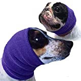 The Original Happy Hoodie for Dogs and Cats - 2 Pack - the Grooming and Force Drying Miracle Tool for Anxiety Relief and Calming Dogs - Purple