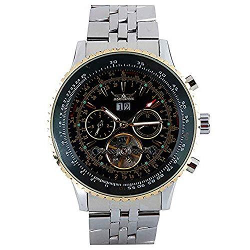 JARAGAR Fashion Herren Armbanduhr, Edelstahl Automatik Mechanische Uhr für Männer Frauen, Business Armbanduhr