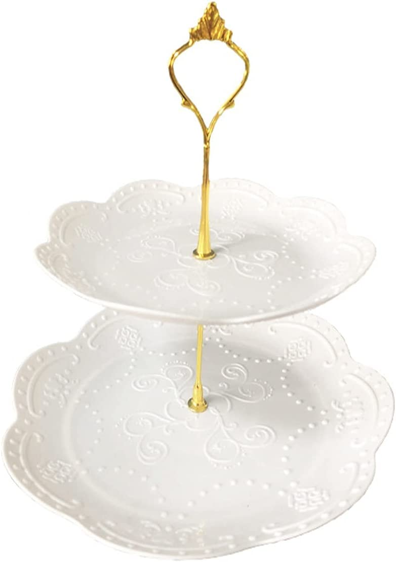 Cupcake Super-cheap Holder Two-layer Gorgeous Plastic Cake Stand White Des Detachable