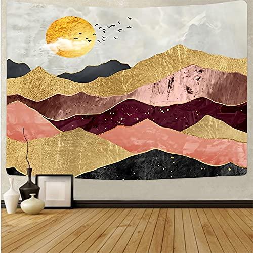 Tapiz de estilo japonés para colgar en la pared, mantel para pared, dormitorio, paisaje, pintura, tapiz, tela de fondo A7 180x200cm