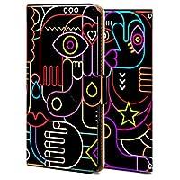 Xperia 1 ケース 手帳型 エクスペリア 1 カバー おしゃれ かわいい 耐衝撃 花柄 人気 全機種対応 人物ネオン シンプル 11769