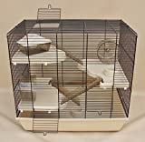 Interzoo Nagerkäfig,Hamsterkäfig,Käfig, Teddy Gigant II Vollausstattung beige