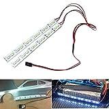 ShareGoo 24 LEDs Chassis Light Aluminum LED Strip 6V for 1/10 1/8 RC Car Crawler Buggy,White