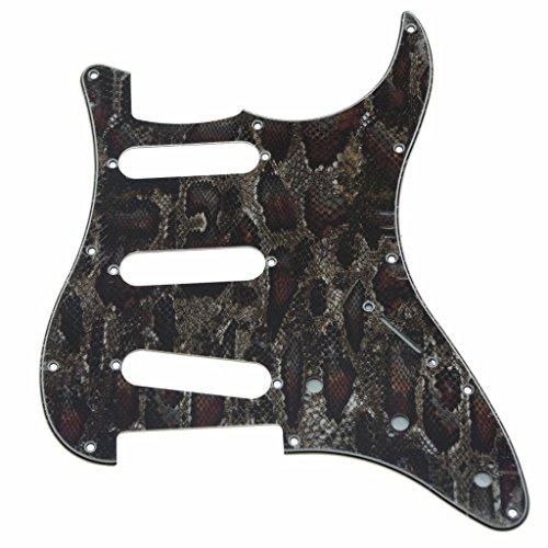 KAISH Golpeador de guitarra ST Strat SSS de 11 agujeros para guitarra...