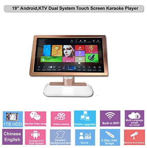 Best Price HAJURIZ 19'' Touch Screen Karaoke Player, 1TB HDD Preloaded with 20K Chinese English ...